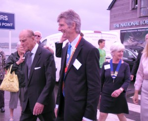 The Town Mayor accompanies HRH The Duke of Edinburgh